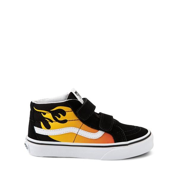 Main view of Vans Sk8 Mid Reissue V Hot Flame Skate Shoe - Little Kid - Black