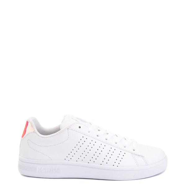 Main view of Womens K-Swiss Court Casper Athletic Shoe - White / Iridescent