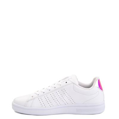 Alternate view of Womens K-Swiss Court Casper Athletic Shoe - White / Iridescent