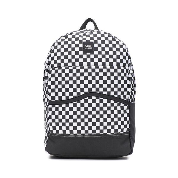 Main view of Vans Construct Skool Backpack - Black / White Checkerboard