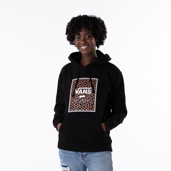 Main view of Womens Vans Wild Box Boyfriend Hoodie - Black
