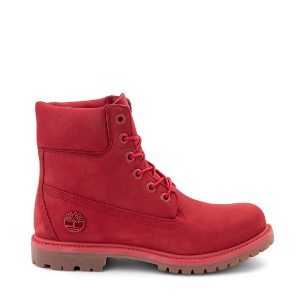"""Main view of Womens Timberland 6"""" Premium Boot - Ruby Red"""