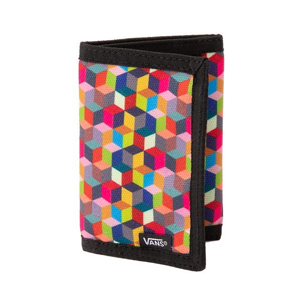 Main view of Vans Prism Cube Checkerboard Tri-Fold Wallet - Multicolor