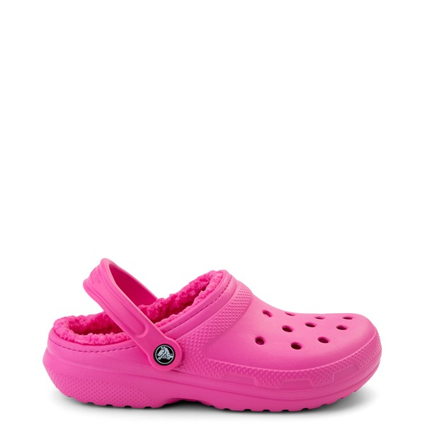 Main view of Crocs Classic Fuzz-Lined Clog - Electric Pink