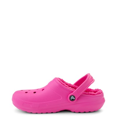 Alternate view of Crocs Classic Fuzz-Lined Clog - Electric Pink