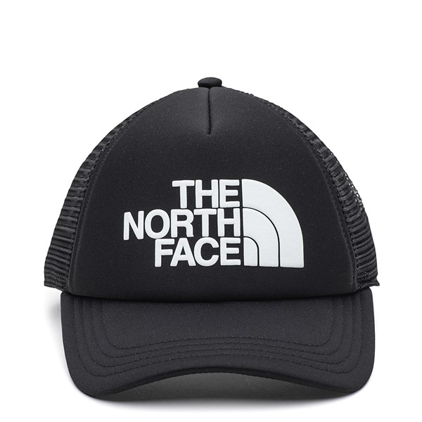 Main view of The North Face Logo Trucker Hat - Black