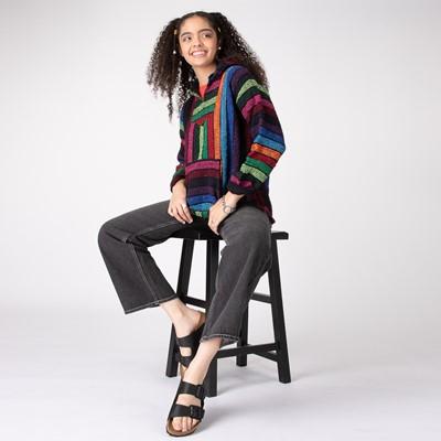 Alternate view of Womens Baja Poncho - Rainbow Stripe