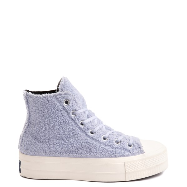 Main view of Womens Converse Chuck Taylor All Star Hi Lift Sherpa Sneaker - Ghost