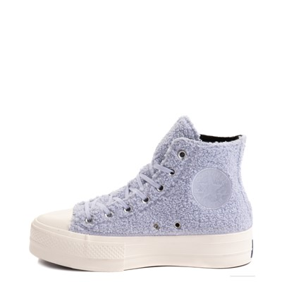 Alternate view of Womens Converse Chuck Taylor All Star Hi Lift Sherpa Sneaker - Ghost