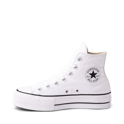 Alternate view of Womens Converse Chuck Taylor All Star Hi Lift Sneaker - White