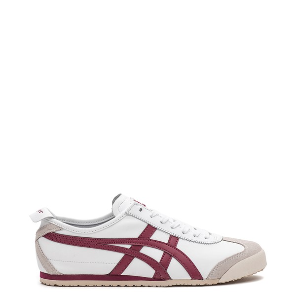 Main view of Mens Onitsuka Tiger Mexico 66 Athletic Shoe - White / Burgundy