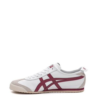 Alternate view of Mens Onitsuka Tiger Mexico 66 Athletic Shoe - White / Burgundy