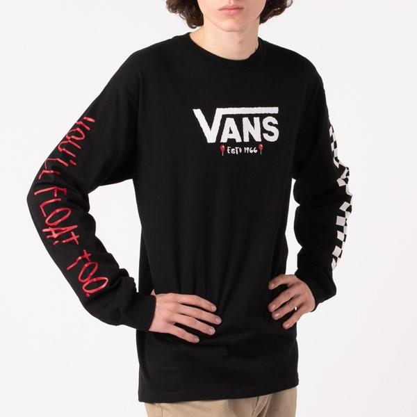 Main view of Mens Vans x Horror It Long Sleeve Tee - Black
